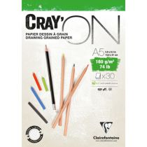 BLOC CRAY\'ON ENCOLLE A5 160GRS