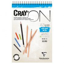 BLOC CRAY\'ON SPIRALE A3 120GRS
