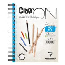 BLOC CRAY\'ON SPIRALE A5 120GRS