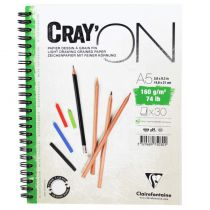 BLOC CRAY\'ON SPIRALE A5 160GRS