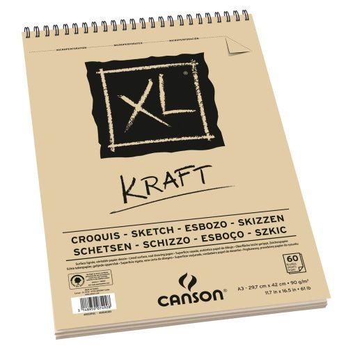 BLOC CROQUIS KRAFT 90GRS A3