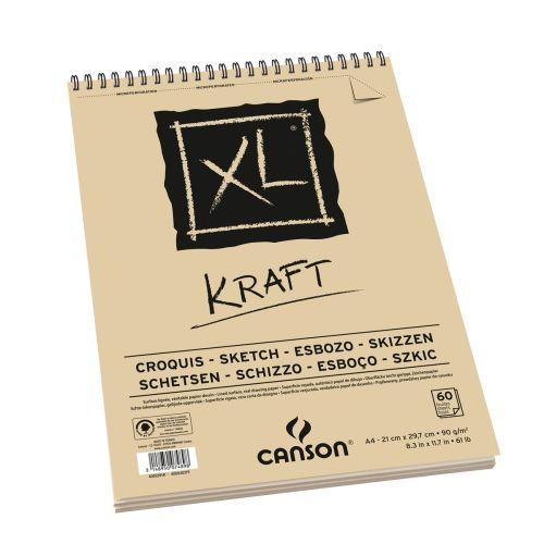 BLOC CROQUIS KRAFT 90GRS A4