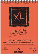 BLOC CROQUIS XL SPIRALE A4 90G