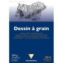 BLOC DESSIN A GRAIN A4 224GR