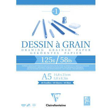 BLOC DESSIN A GRAIN A5 125GR