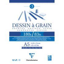 BLOC DESSIN A GRAIN A5 180GR