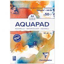 BLOC GOLDLINE AQUAPAD A4 - 50 Feuilles - 300G