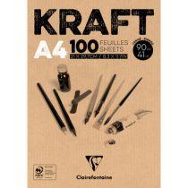 BLOC KRAFT BRUN 90GRS A4