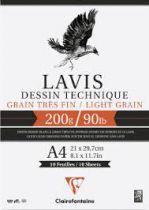 BLOC LAVIS TECHNIQUE 200GRS A4 10FEUILLES