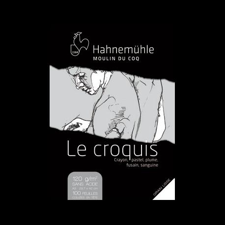 BLOC LE CROQUIS A4 GRAIN LISSE