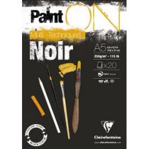 BLOC PAINT\'ON A5 20F ENCOLLE 250G NOIR