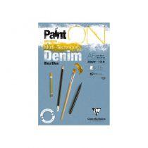 BLOC PAINT\'ON BLEU DENIM A5 - 15 Feuilles - 250G