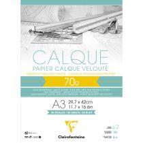 BLOC PAPIER CALQUE A3 70GR 50FEUILLES