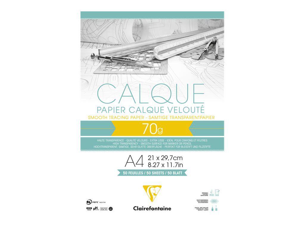BLOC PAPIER CALQUE A4 70GR 50FEUILLES
