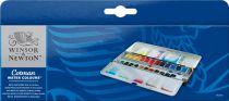 BLUE BOX 24 1/2 GODETS AQUARELLE COTMAN WINSOR & NEWTON