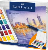 BOITE AQUARELLE FABER CASTELL 48 1/2 GODETS