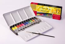 BOITE METAL AQUARELLE EXTRAFINE SENNELIER 12 X 10ML