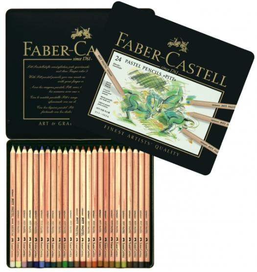 24 crayons pastel pitt