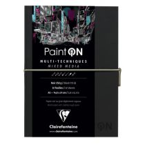 CARNET COUSU PAINT\'ON A5 NOIR