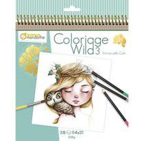 CARNET DE COLORIAGE WILD3