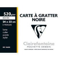 CARTE A GRATTER NOIRE 24X32 CM
