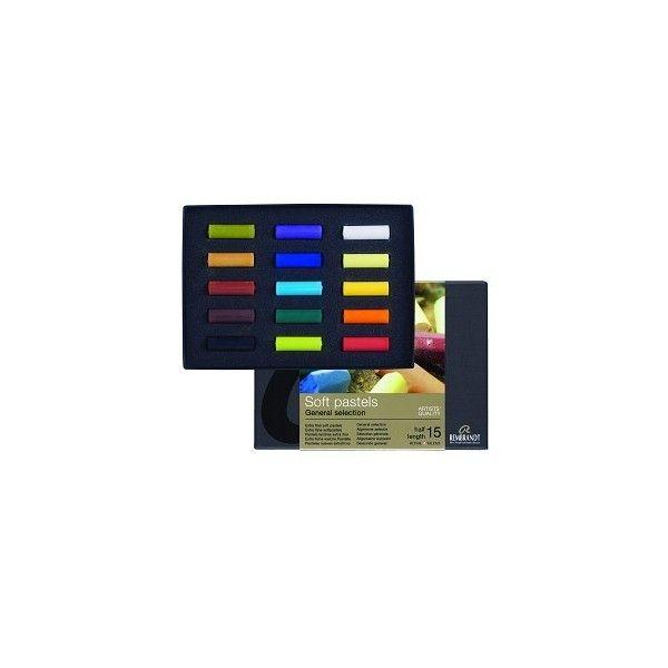 Coffret 15 demi-pastels REMRANDT