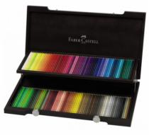 Coffret bois de 120 crayons polychromos - faber-castell