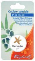 COULEUR SPECIALE POCHOIR MARRON CLAIR