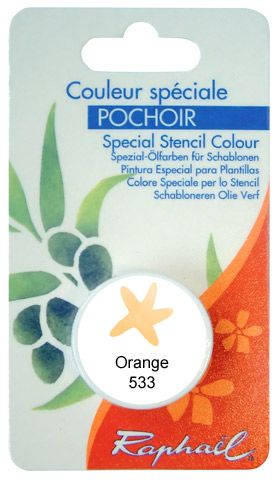 COULEUR SPECIALE POCHOIR ORANGE