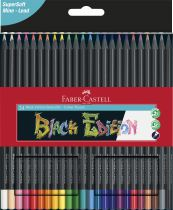 CRAYONS COULEURS BLACK EDITION X 24 FABER CASTELL