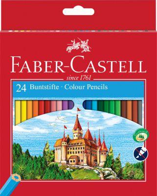 CRAYONS DE COULEUR CHATEAU FABER CASTELL X 24