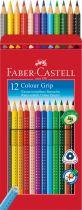 CRAYONS DE COULEUR GRIP AQUARELLABLES FABER CASTELL X 12 FABER