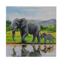 CRYSTAL ART KIT CARTE A DIAMANTER 18x18CM ELEPHANTS