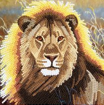 CRYSTAL ART KIT CARTE A DIAMANTER 18x18CM LION
