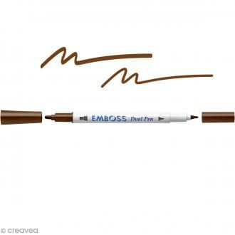 EMBOSS DUAL PEN  52 CHOCOLATE