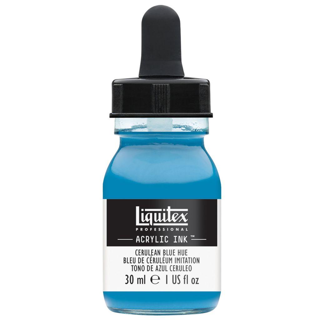 ENCRE ACRYLIQUE INK LIQUITEX 30 ML BLEU DE CERULEUM IMITATION