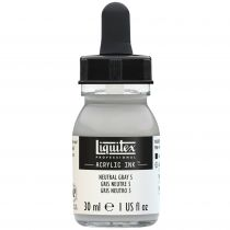 ENCRE ACRYLIQUE INK LIQUITEX 30 ML GRIS NEUTRE N°5