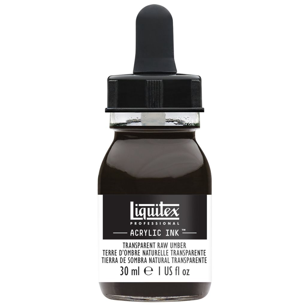 ENCRE ACRYLIQUE INK LIQUITEX 30 ML TERRE D\'OMBRE NATURELLE TRANSPARENTE