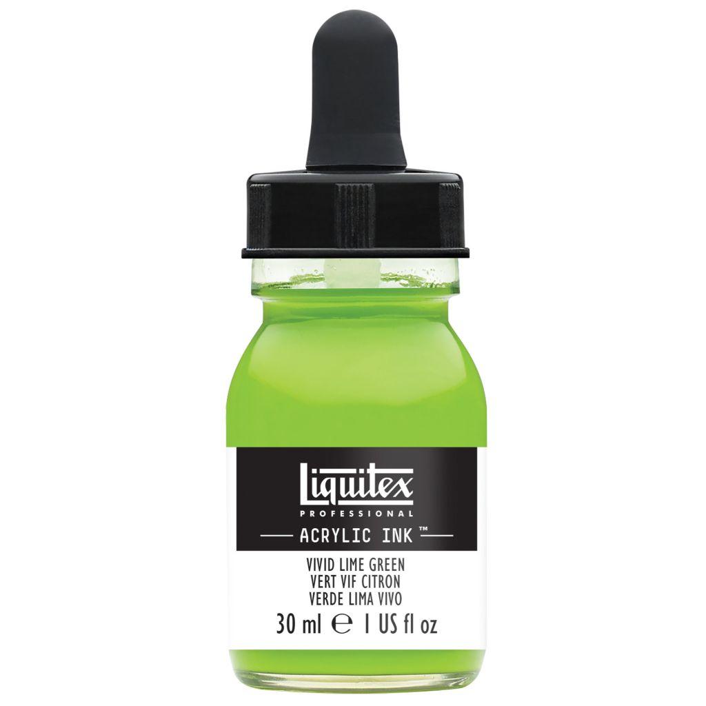 ENCRE ACRYLIQUE INK LIQUITEX 30 ML VERT VIF CITRON