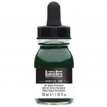 ENCRE ACRYLIQUE INK LIQUITEX 30ML VERT DE VESSIE PERMANENT