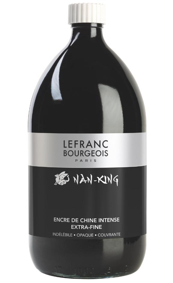 ENCRE DE CHINE NAN-KING LEFRANC BOURGEOIS FLACON 1L NOIR