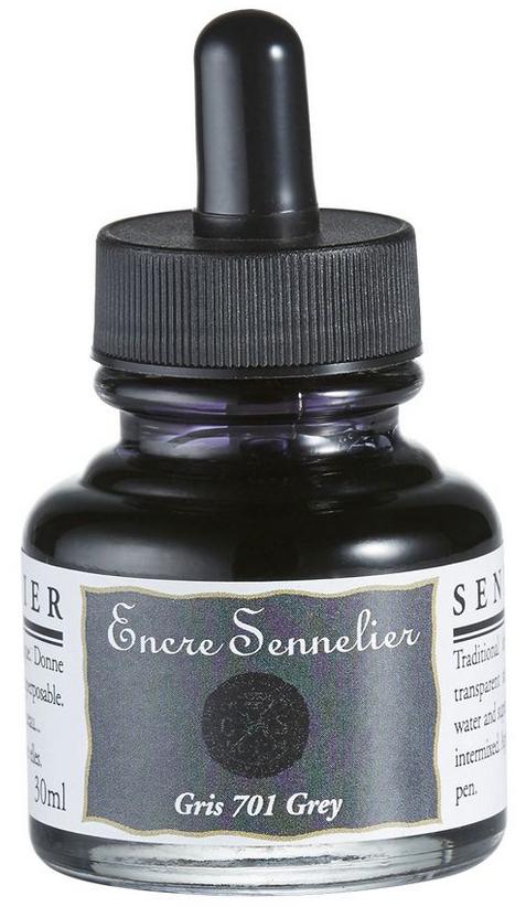 ENCRE SENNELIER 30ML GRIS