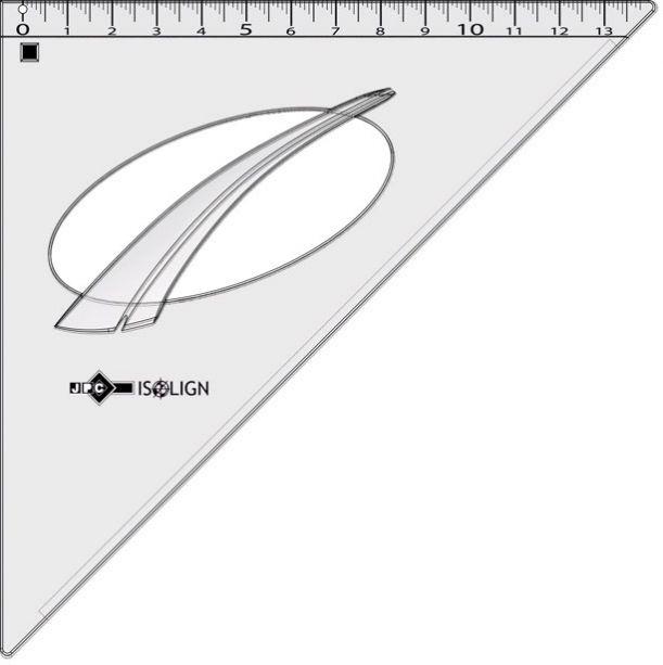 EQUERRE ISOLIGN INCASSABLE 45° 24cm