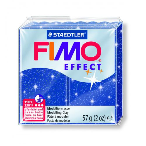 FIMO EFFECT BLEU PAILLETÉ