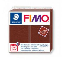 FIMO EFFECT CUIR MARRON