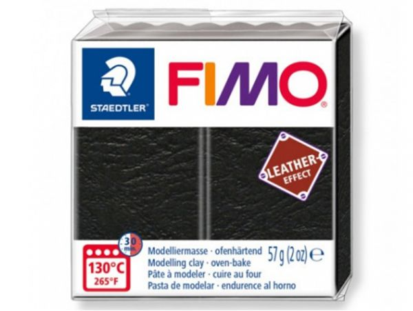 FIMO EFFECT CUIR NOIR