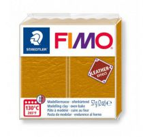 FIMO EFFECT CUIR OCRE