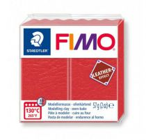 FIMO EFFECT CUIR ROUGE