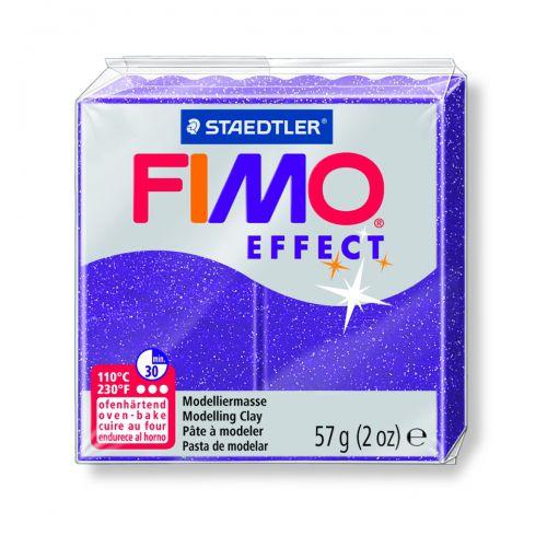 FIMO EFFECT LILAS PAILLETÉ