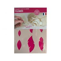 GABARIT POUR PATE POLYMERE PLUMES